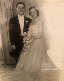 Myrna and Mervin on their wedding day.
