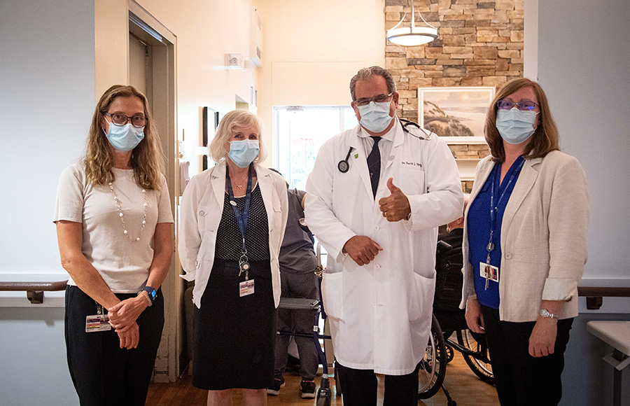 (From left to right) Evelyn Babcock, patient care manager; Dr. Jocelyn Charles, founder; Dr. David Shergold, consulting physician; and Sylvia Brachvogel, operations director.